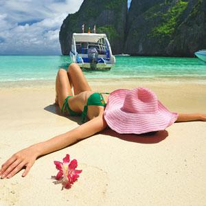 พักผ่อนริมชายหาด
